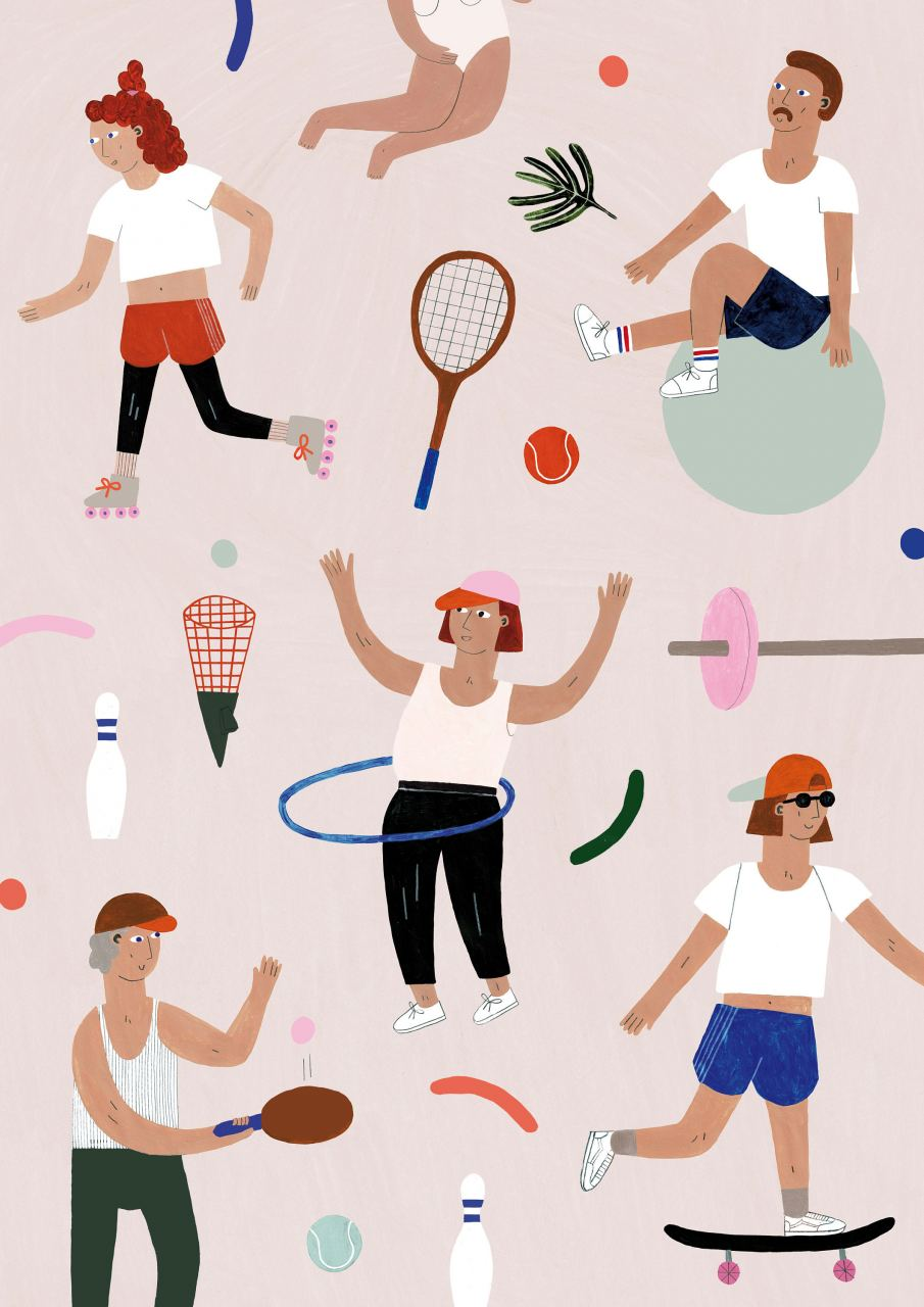 Sporty Print (30 x 40cm)