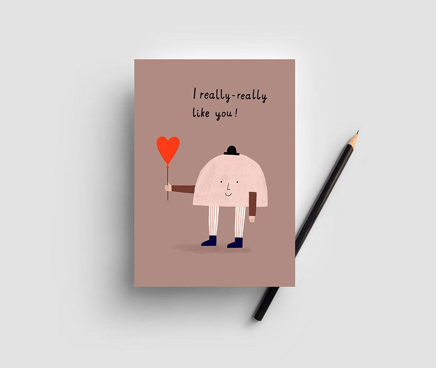 I Like You Postkarte
