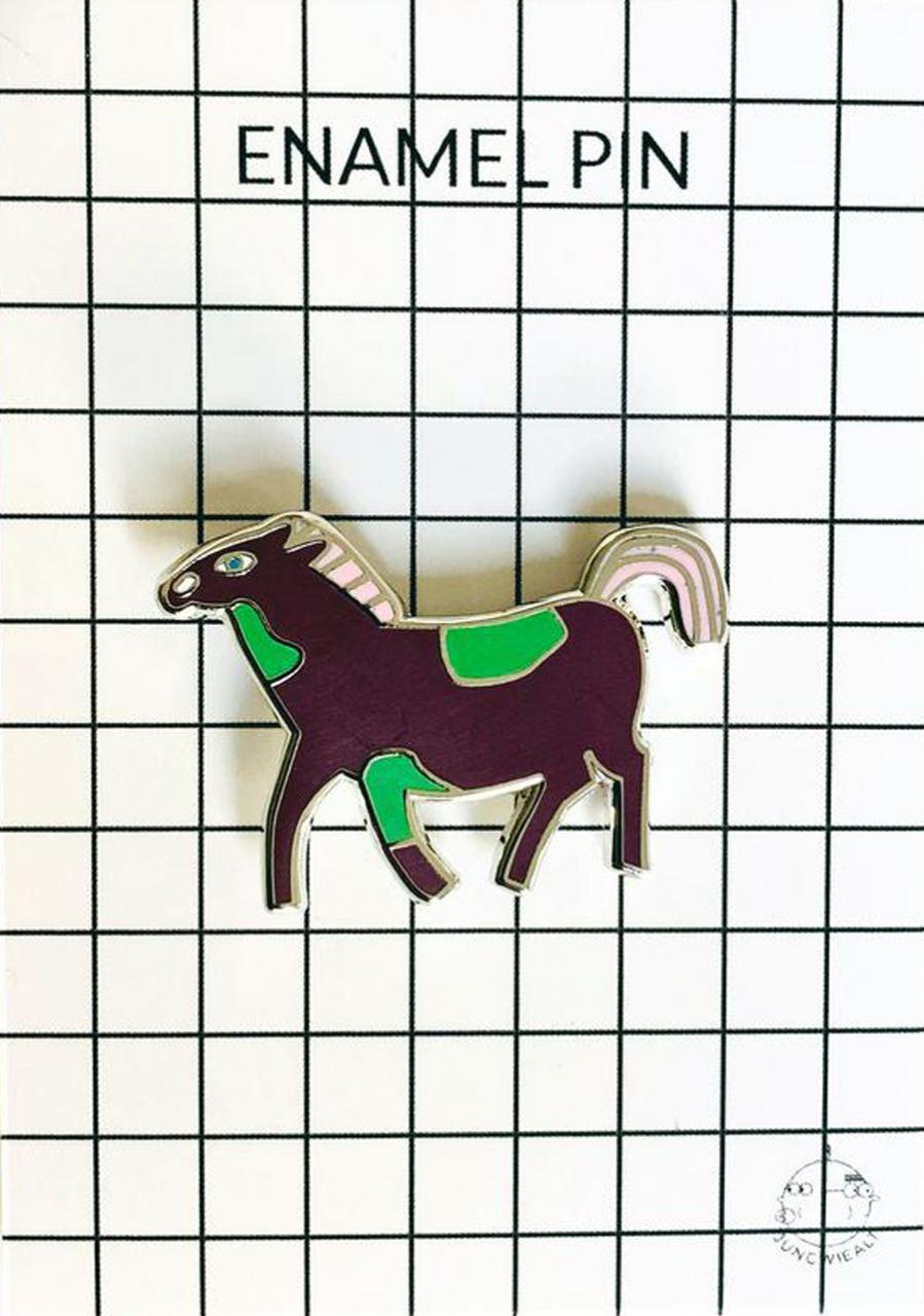 Sassy Pony Enamel Pin