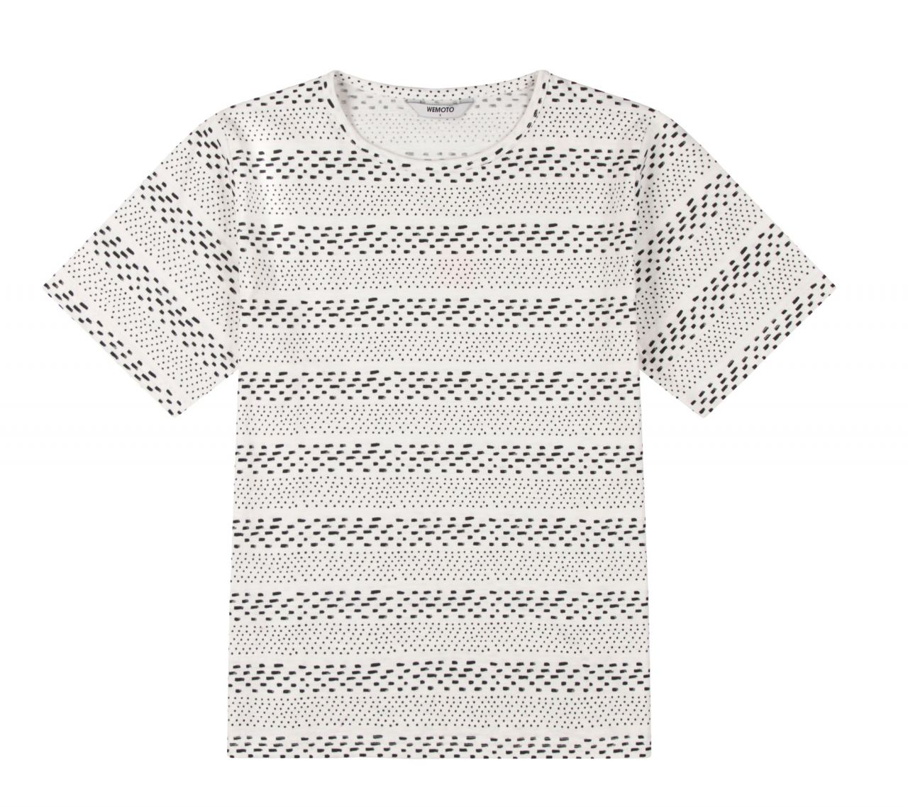 Holden Printed Shirt Off White Black