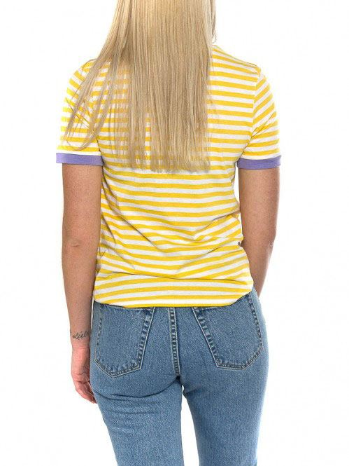 Uda T-Shirt White Yellow Violett