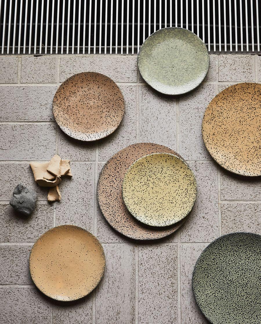 Gradient Keramikteller Green