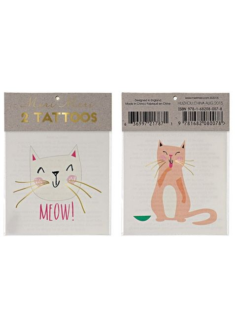 Cat Klebetattoos (2St.)