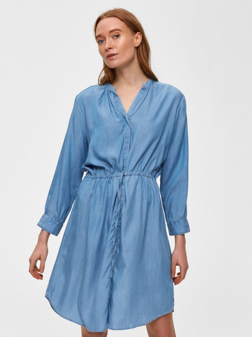 SLFMARLA 7/8 Dress Light Blue