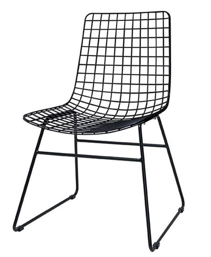 Stuhl Metalldraht Schwarz