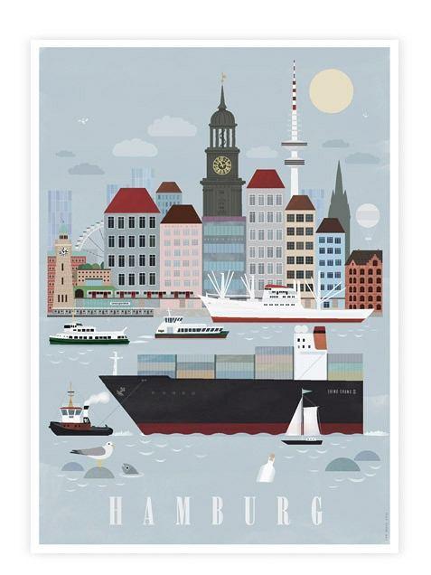 Hamburg-City-Postkarte