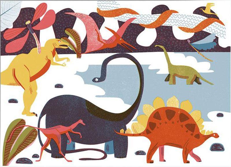 Dinosaurs Postkarte
