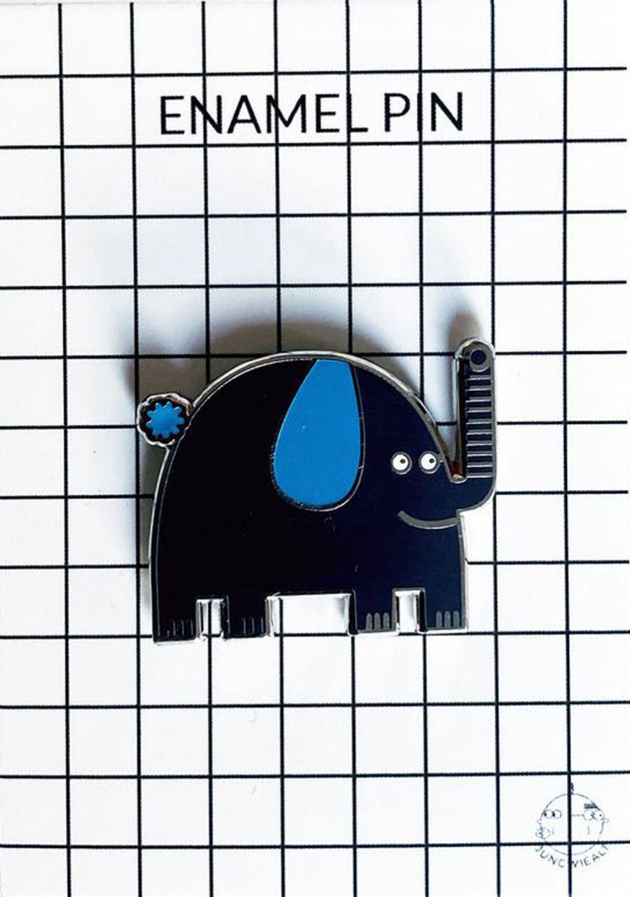 Elephant Enamel Pin