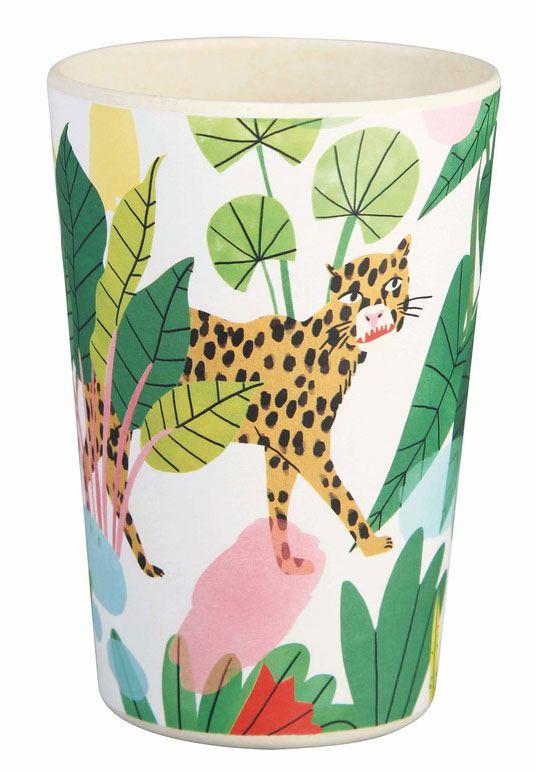 Bambus Becher Bodil Leopard & Affe