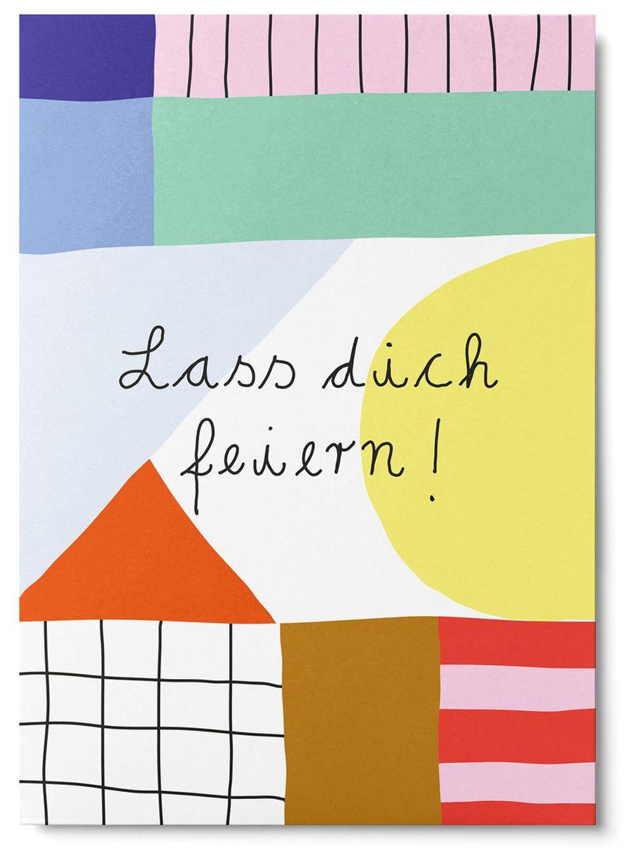 Lass Dich feiern Abstract Postkarte