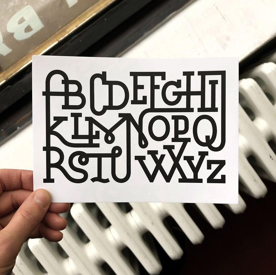 Ligaturen Alphabet Karte