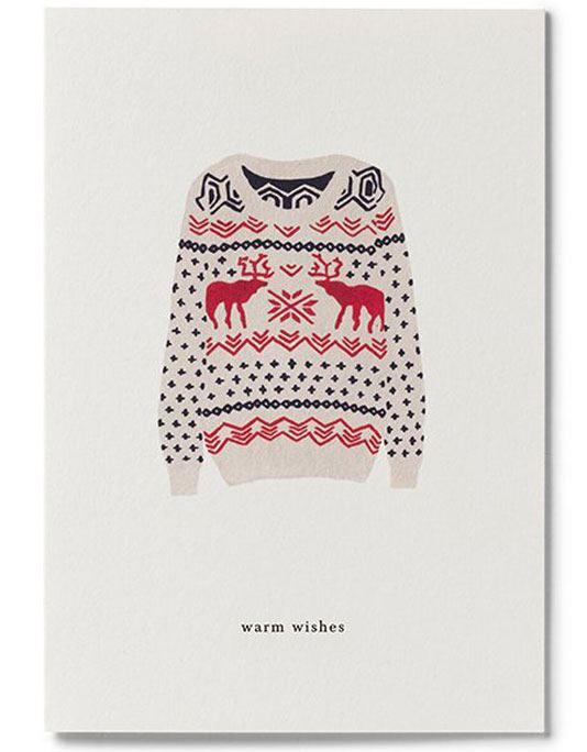 X-Mas Sweater Klappkarte