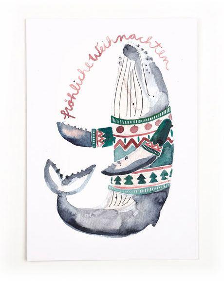 Weihnachtswal Postkarte