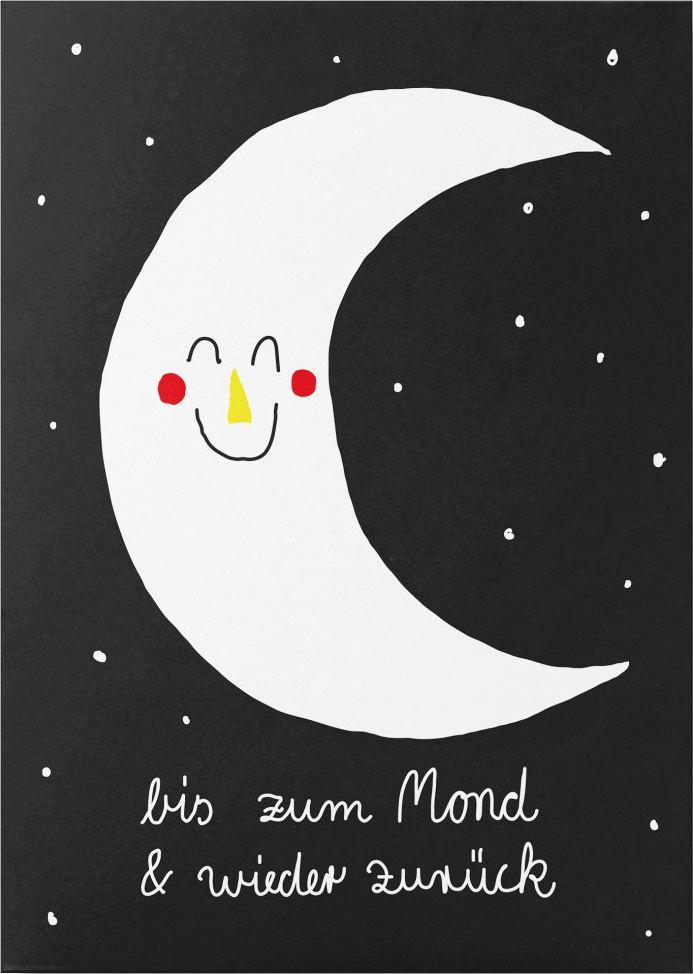 Bis zum Mond Postkarte