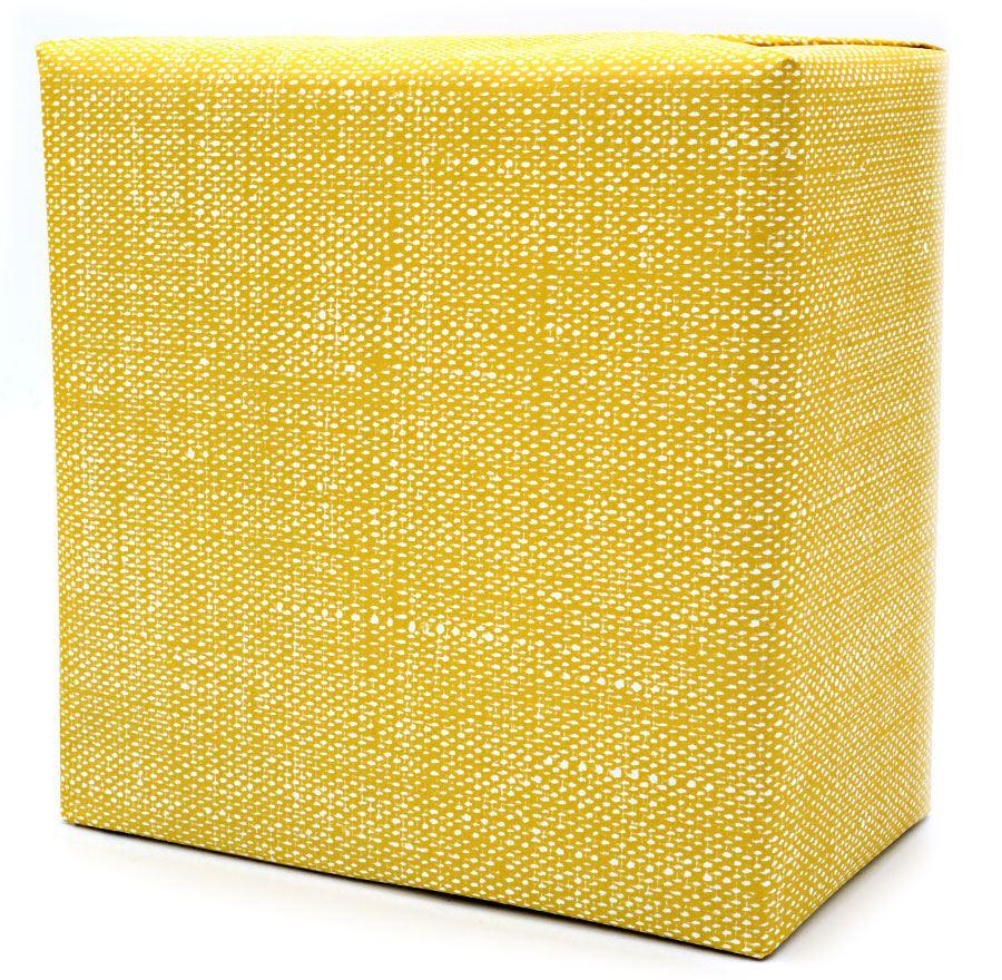 Leinen Mustard Geschenkpapier