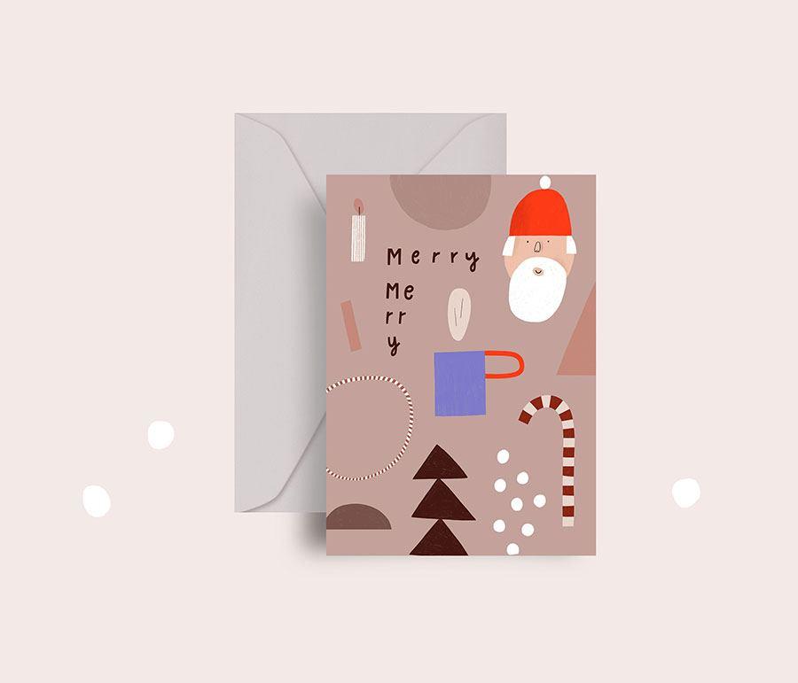 Merry Merry Klappkarte
