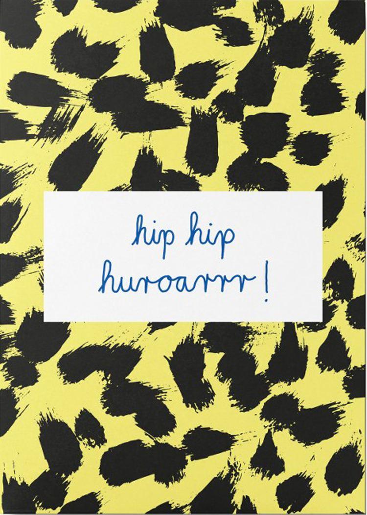 Hip Hip Huroarrr Postkarte