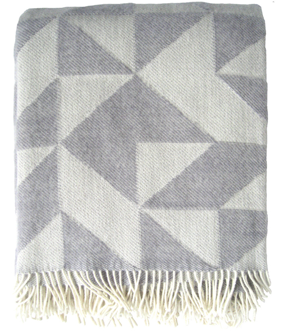 Twist a Twill Wolldecke Light Grey