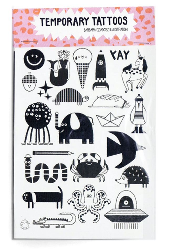 Characters Black Temporary Tattoos