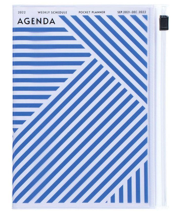 2022 Taschenkalender A6 Storage.it Geometric Blue