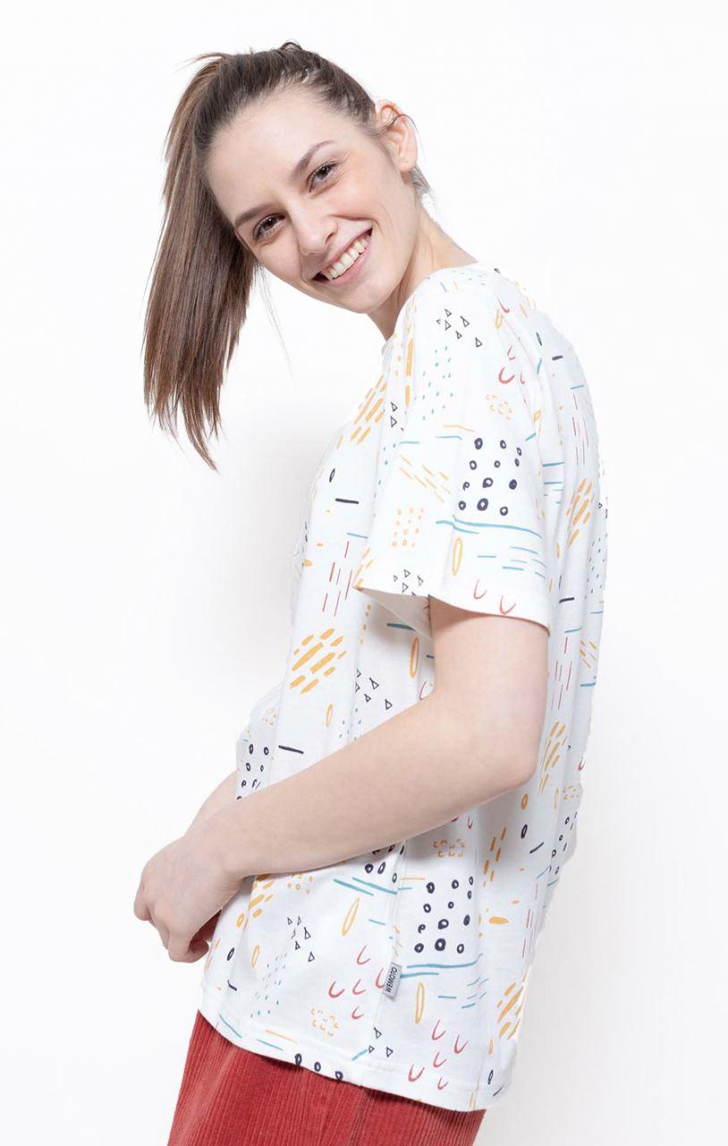 Bleu Printed Shirt Off White