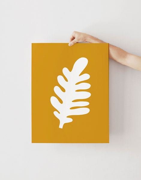 Feuille Ocre Poster (Din A3)