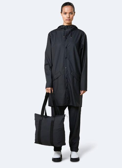 Rains Tote Bag Rush Black