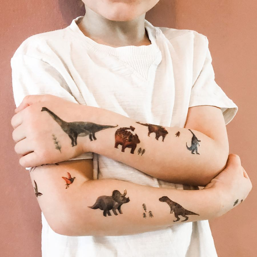 "Organic Tattoos ""Dinosaurs"""