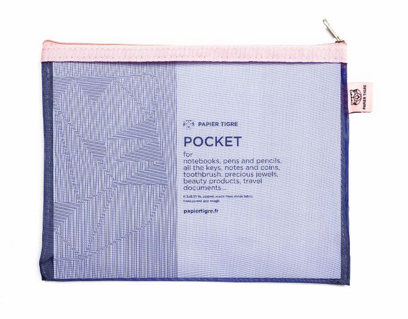 Papier Tigre Mesh Pocket M Indigo
