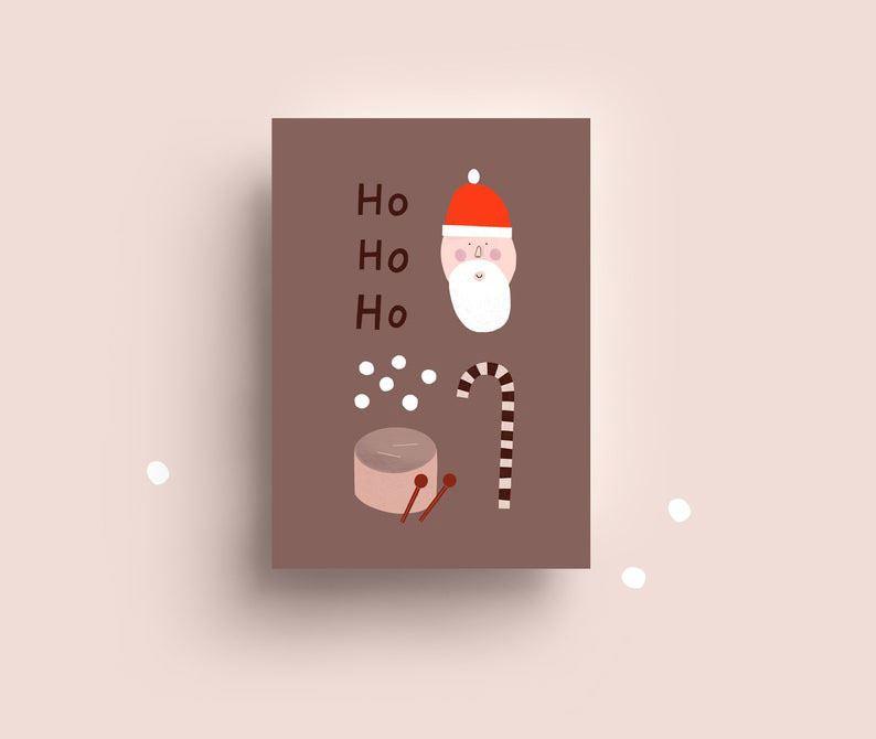 Ho Ho Ho Postkarte