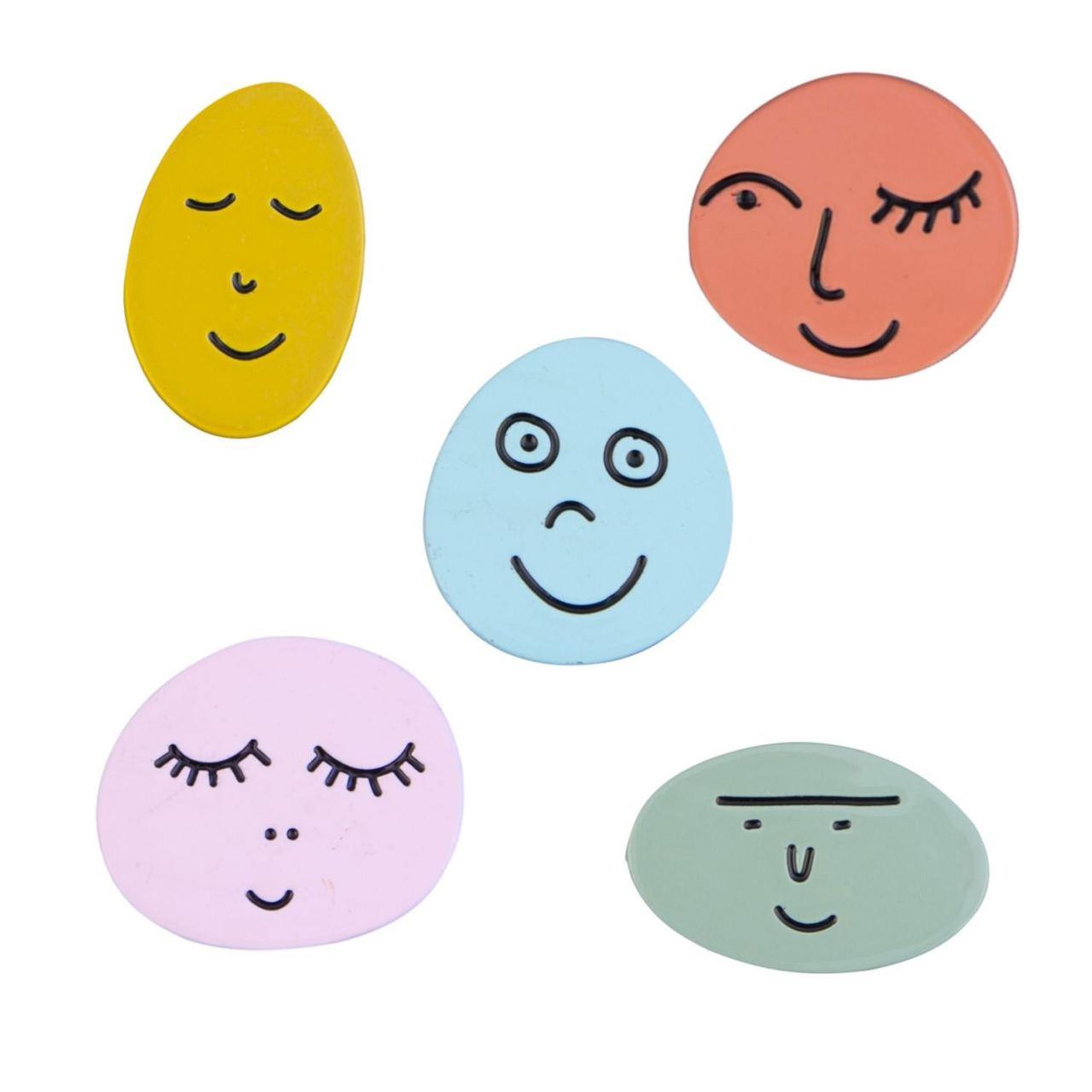 Pin Gesichter (div. Farben)