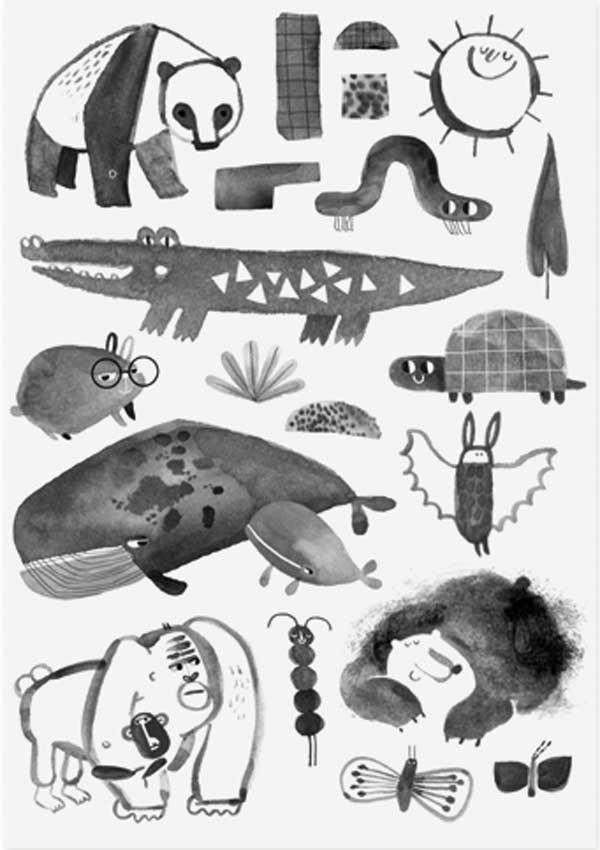 "Organic Tattoos ""Crocodile & Friends"""