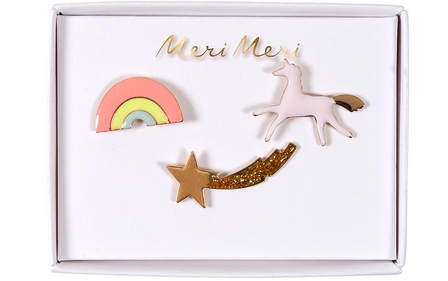 Unicorn Enamel Pins (3St.)