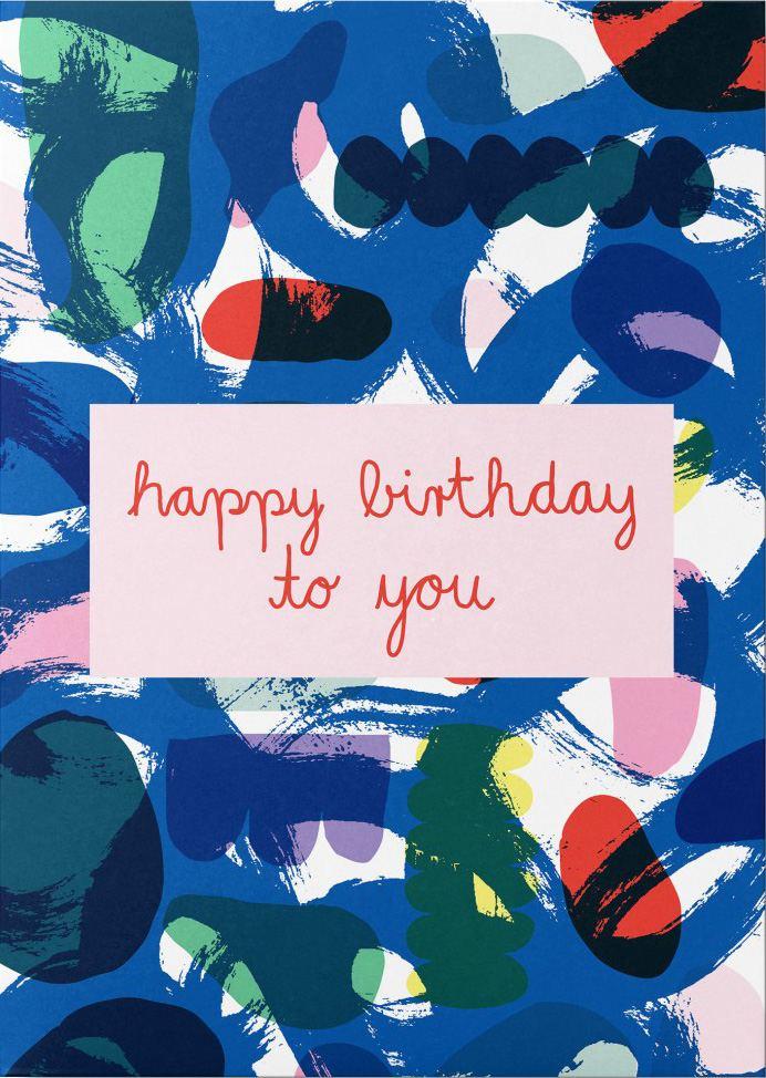 Happy Birthday to you Postkarte