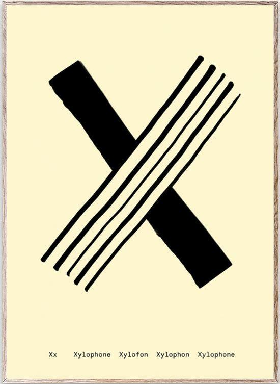 X - Alphabet Spaghetti Letter Print (Din A5)
