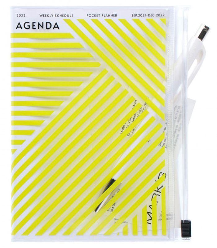 2022 Taschenkalender A6 Storage.it Geometric Pink