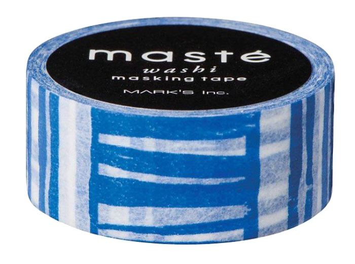 Maste Tape Navy Brush Border