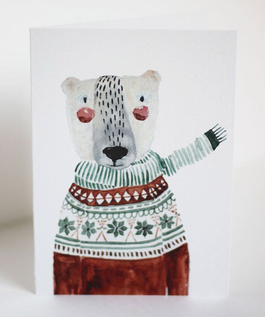 Klappkarte Weihnachtsbär