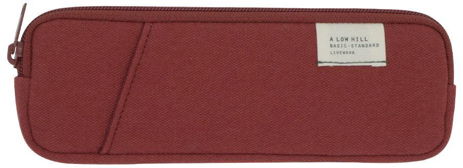 Low Hill Pocket Pencilcase V3 Brick Red