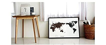 World Map Black White