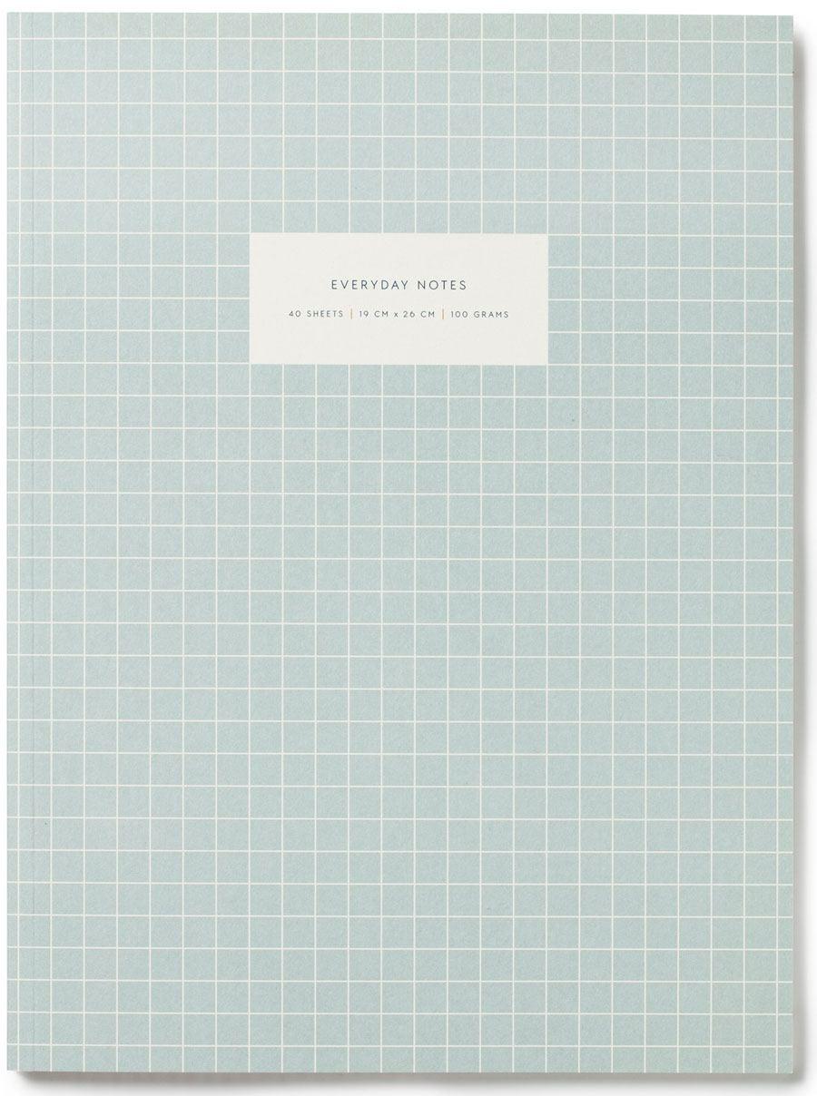 Check Light Blue Notizbuch