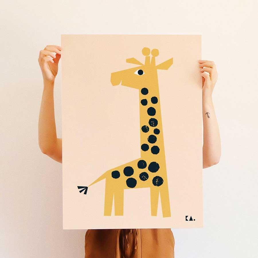 Giraffe Poster (50 x 70cm)