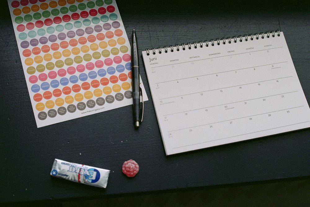 The Boring Day Tischkalender 2019 Rot