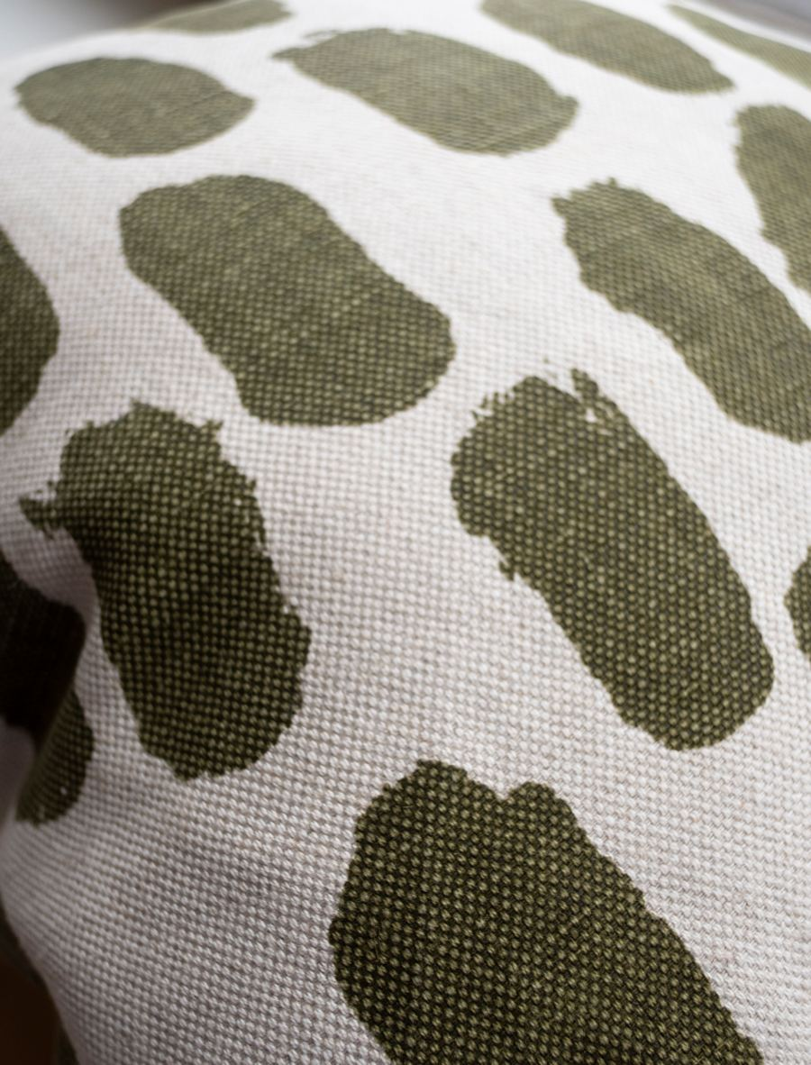 Kissen Dots Olive (ca. 50x50cm)