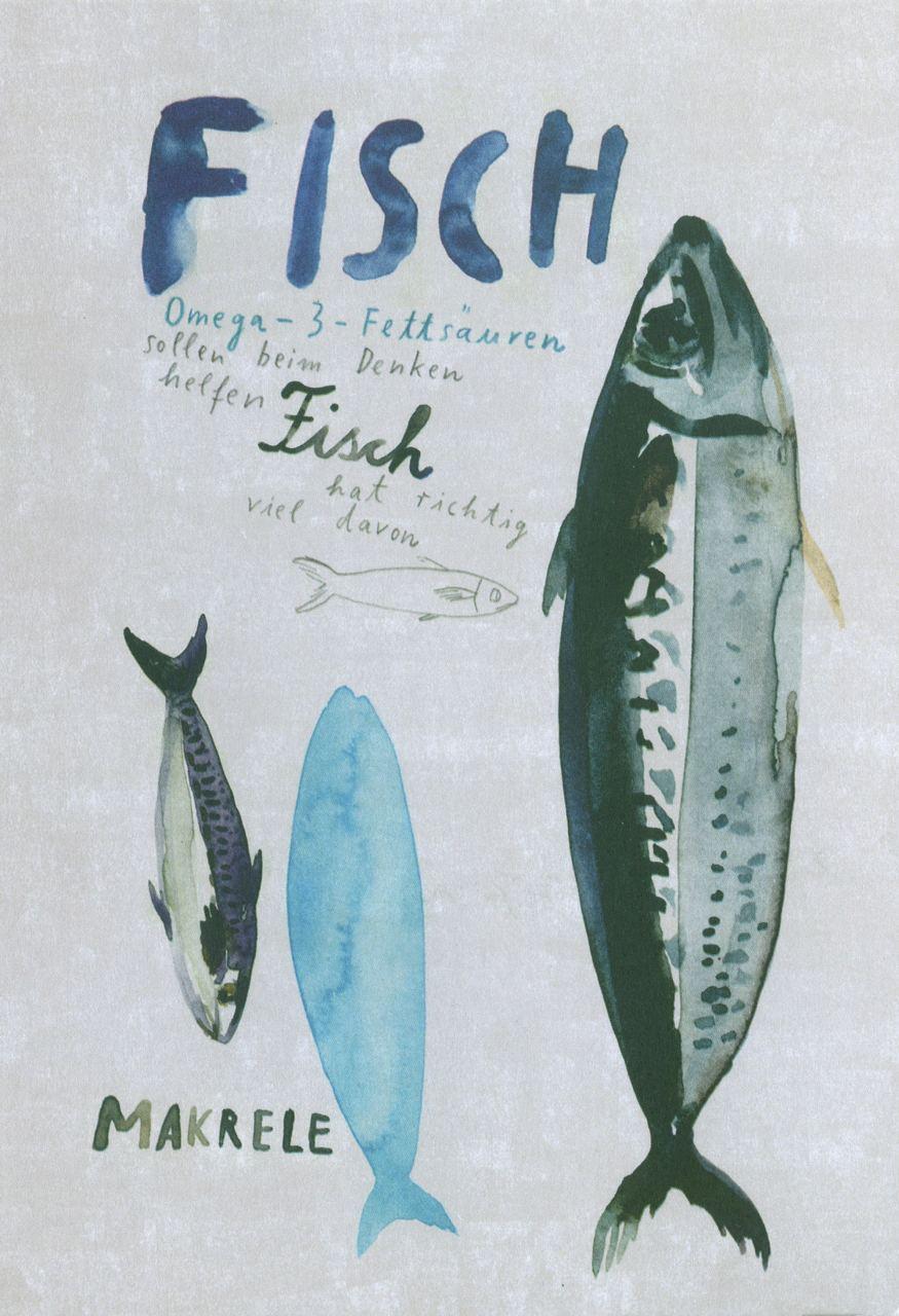 Fisch Postkarte