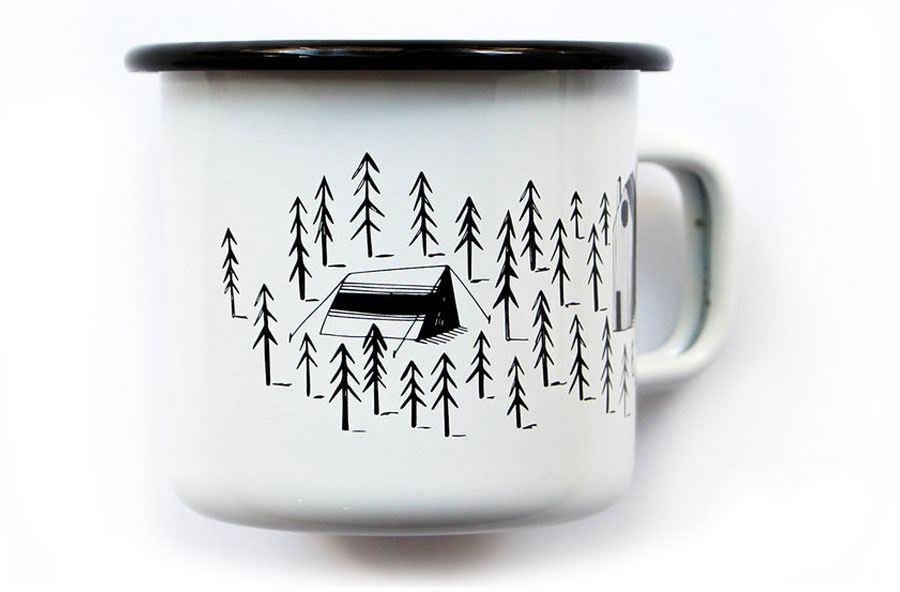 Wald Emaillebecher