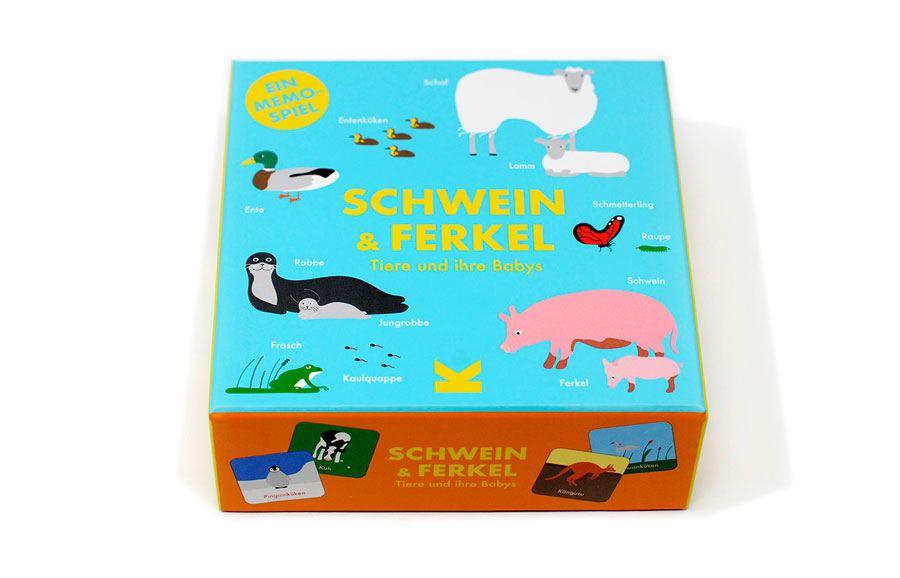 Memospiel Schwein & Ferkel