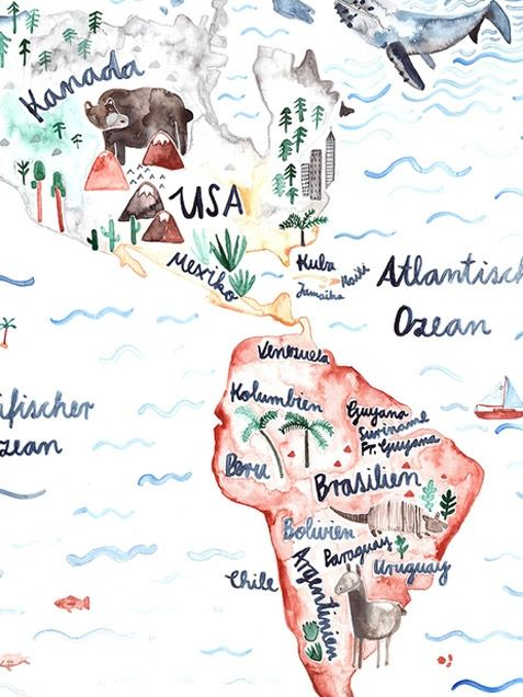 Weltkarte Poster (Din A1)