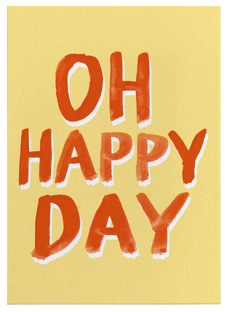 Oh Happy Day Postkarte