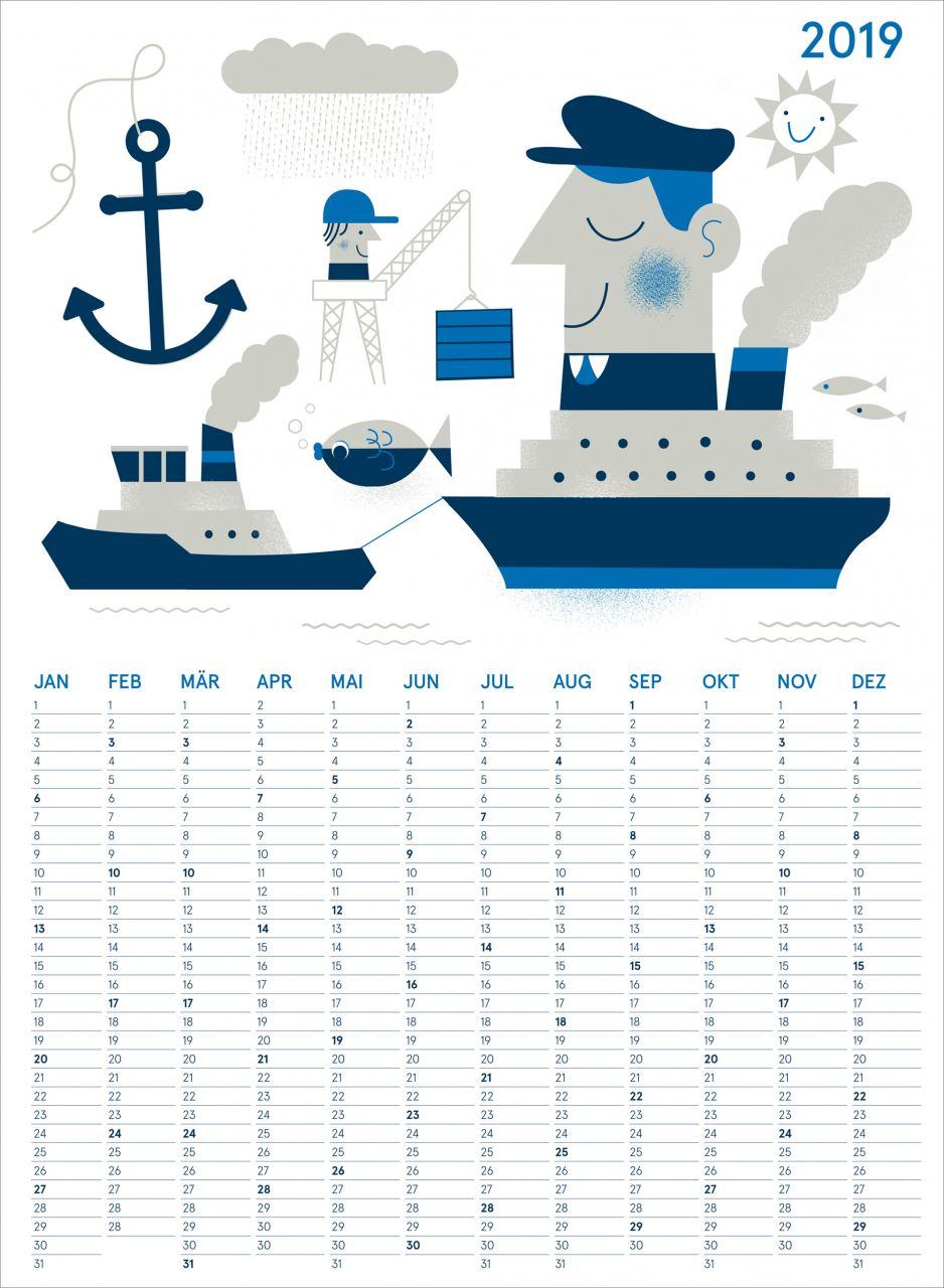Kalender Hafen 2019